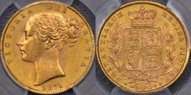 1871 Sydney Shield Reverse Sovereign