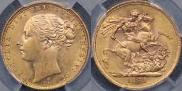 1871 Sydney St George Reverse with Small BP Sovereign