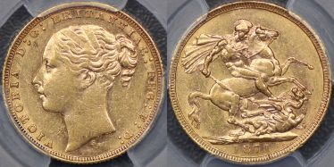 1871 Sydney St George Sovereign with large BP