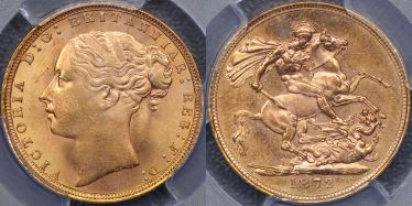 1872 St George Reverse Sovereign