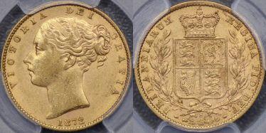 1872 Sydney Shield Reverse Sovereign