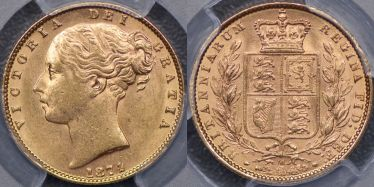 1874 Melbourne Shield Reverse Sovereign