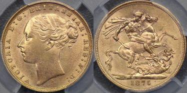1875 Sydney St George Reverse Sovereign