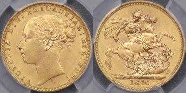 1876 Sydney St George Reverse Sovereign