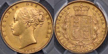 1877 Sydney Shield Reverse Sovereign