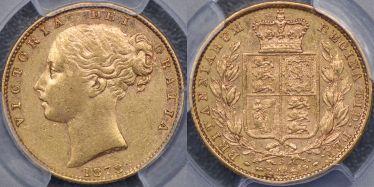 1878 Sydney Shield Reverse Sovereign