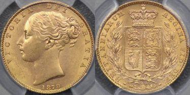 1879 Sydney Shield Reverse Sovereign