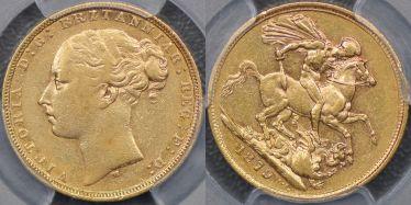 1879 Melbourne St George Reverse Sovereign