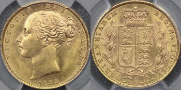 1880 Sydney Shield Reverse Sovereign