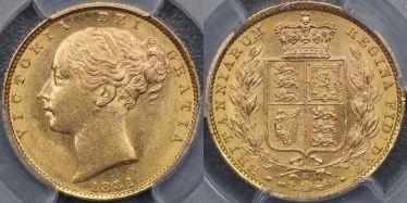 1881 Sydney Shield Reverse Sovereign