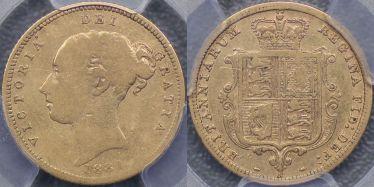 1881 Sydney Half Sovereign