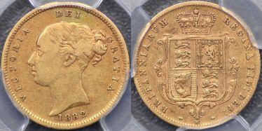 1882 Melbourne Half Sovereign