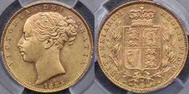 1885 Melbourne Shield Reverse Sovereign