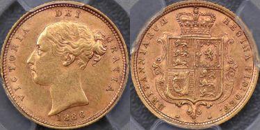 1886 Sydney Half Sovereign