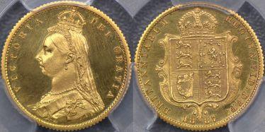 1887 Proof Jubilee Head Half Sovereign