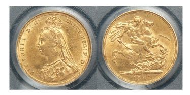 1887 Sydney Jubilee Head Sovereign
