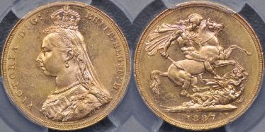 1887 Melbourne Jubilee Head Sovereign