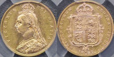 1887 Melbourne Jubilee Head Half Sovereign