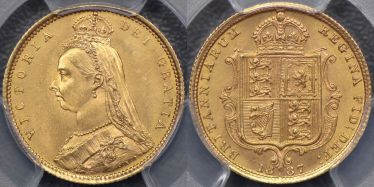 1887 Sydney Jubilee Head Half Sovereign