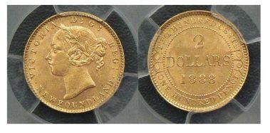 Newfoundland, 1888 Two Dollars
