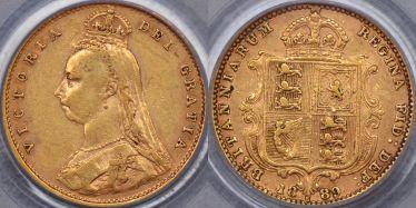 1889 Sydney Half Sovereign