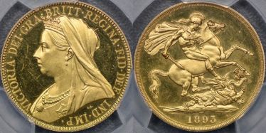 1893 Proof Two Pound