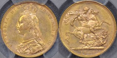 1893 Melbourne Jubilee Head Sovereign