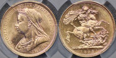 1893 Sydney Veiled Head Sovereign