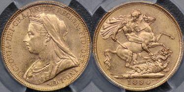 1894 Melbourne Sovereign