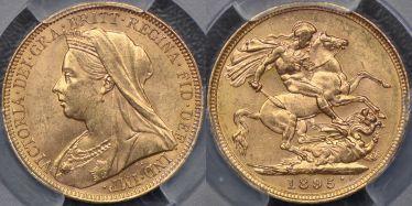 1895 Melbourne Sovereign