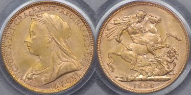 1896 Melbourne Sovereign