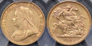 1896 Melbourne Half Sovereign