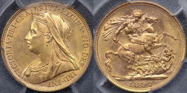 1897 Melbourne Sovereign
