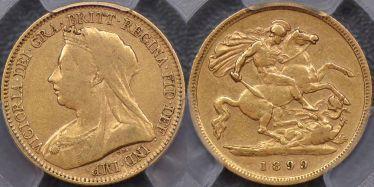 1899 Melbourne Half Sovereign