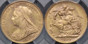 1899 Melbourne Sovereign