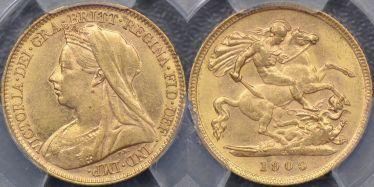 1900 Melbourne Half Sovereign