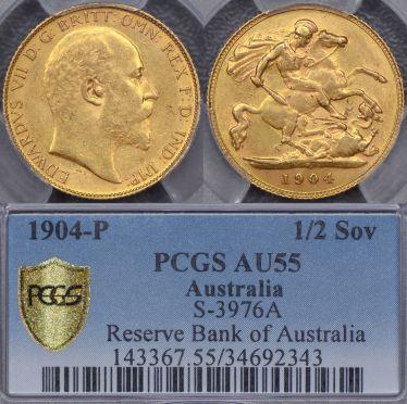 1904 Perth Half Sovereign