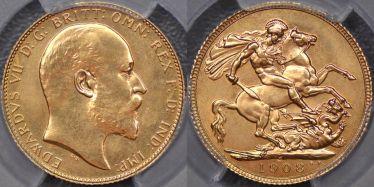1908 Ottawa Specimen Sovereign