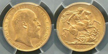 1909 Melbourne Sovereign