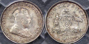 1910 Threepence