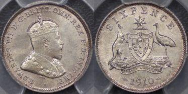 1910 Sixpence