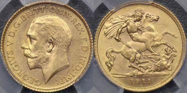 1911 Sydney Half Sovereign
