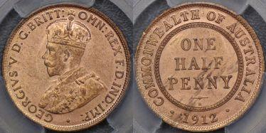 1912 Birmingham Halfpenny