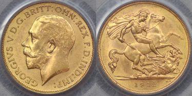 1912 Sydney Half Sovereign