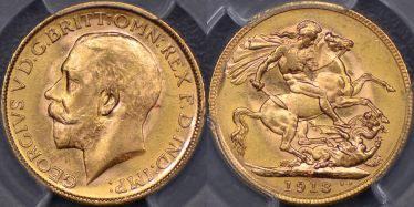 1913 Melbourne Sovereign