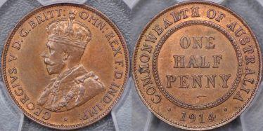 1914 Birmingham Halfpenny