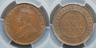 1915 Birmingham Halfpenny