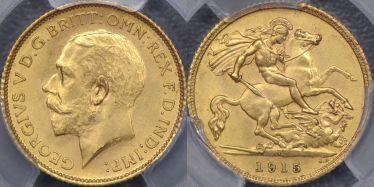 1915 Sydney Half Sovereign