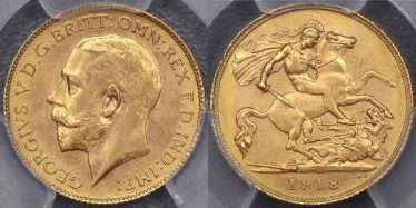 1918 Perth Half Sovereign