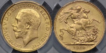 1918 Bombay Sovereign